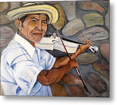 Mountain Fiddler Metal Print