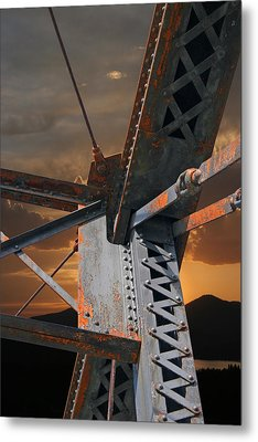 Mountain Iron Metal Print