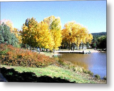 Mountain Lake Autumn Metal Print