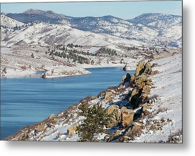 Mountain Lake In Winter Scenery Metal Print by Marek Uliasz