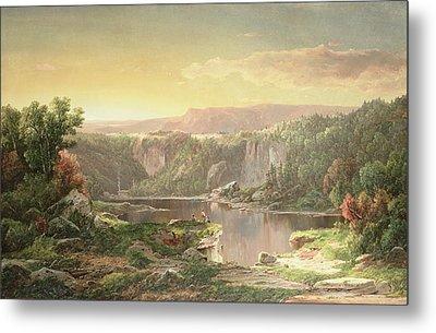 Mountain Lake Near Piedmont Metal Print by William Sonntag
