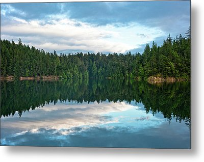 Mountain Lake Reflection Metal Print
