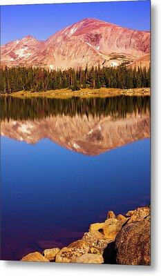Metal Print featuring the photograph Mountain Lake Reflections by John De Bord