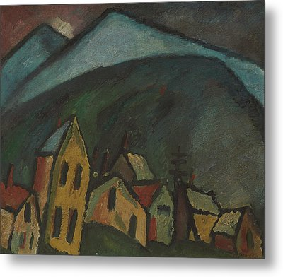 Mountain Landscape With Houses Metal Print by Alexej von Jawlensky