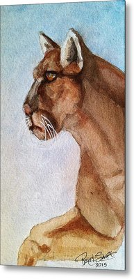 Mountain Lion Metal Print by Rand Swift