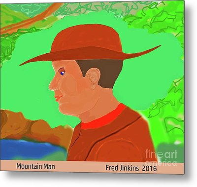 Mountain Man Metal Print by Fred Jinkins