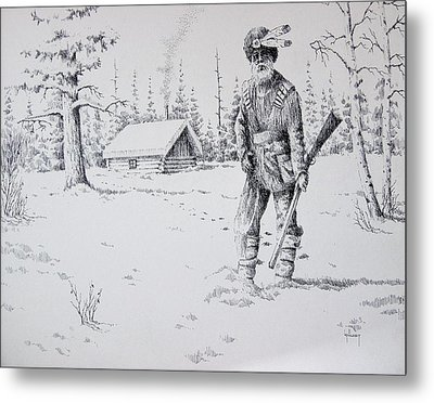 Mountain Man Metal Print by Kevin Heaney