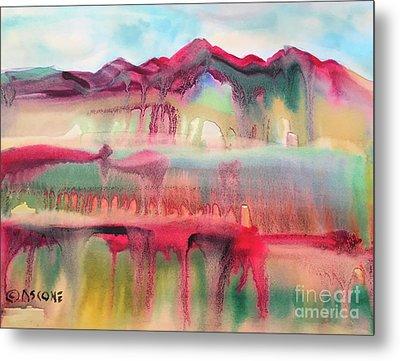 Mountain Mirage Metal Print by Teresa Ascone