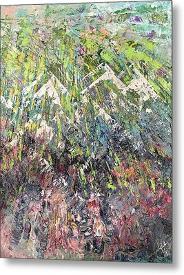 Mountain Of Many Colors Metal Print
