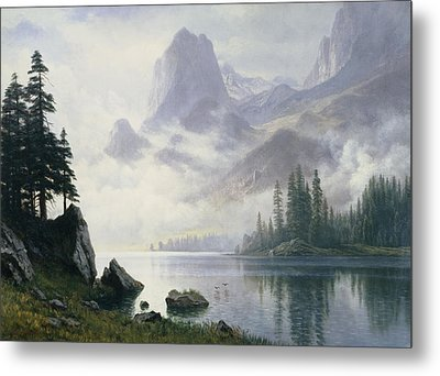Mountain Out Of The Mist Metal Print by Albert Bierstadt