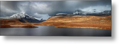 Metal Print featuring the photograph Mountain Pano From Knockan Crag by Grant Glendinning