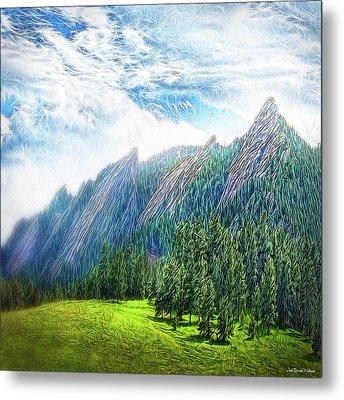 Mountain Pine Meadow Metal Print