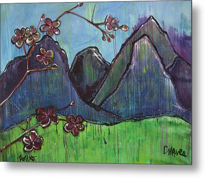 Mountain Pose Metal Print by Laurie Maves ART