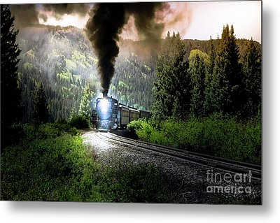 Metal Print featuring the photograph Mountain Railway - Morning Whistle by Robert Frederick