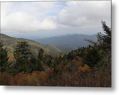 Mountain Ridge View Metal Print