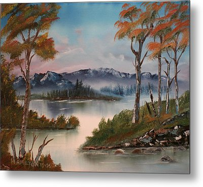 Mountain River Metal Print by Larry Hamilton