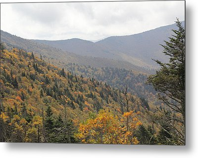 Mountain Side Long View Metal Print