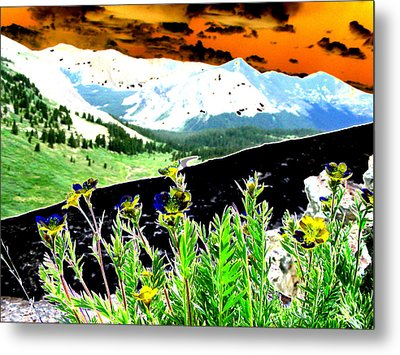 Mountain Summer Metal Print by Peter  McIntosh