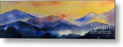Mountain Sunset Metal Print by Megan Richard