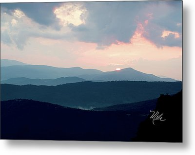 Blue Ridge Mountain Sunset Metal Print by Meta Gatschenberger