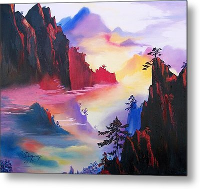 Mountain Top Sunrise Metal Print