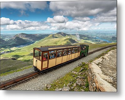 Mountain Train Metal Print by Adrian Evans