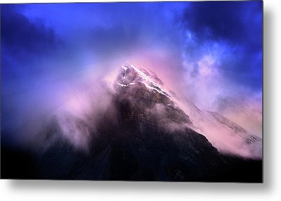 Metal Print featuring the photograph Mountain Twilight by John Poon