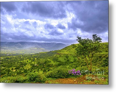 Metal Print featuring the photograph Mountain View by Charuhas Images