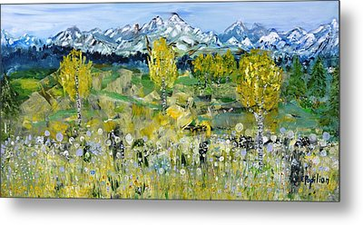 Mountain View Metal Print by Evelina Popilian