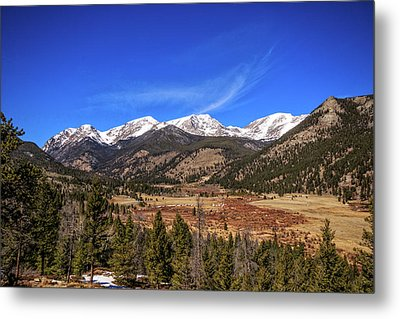 Metal Print featuring the photograph Mountain View From Fall River Road In Rocky Mountain National Pa by Peter Ciro