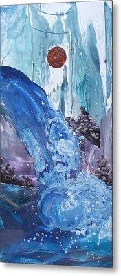 Mountain Water Metal Print by Danita Cole