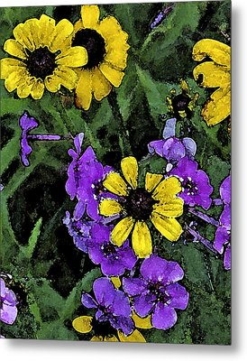 Mountain Wildflowers Metal Print by Debra Wilkinson