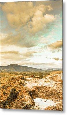 Mountainous Tasmania Scenery Metal Print by Jorgo Photography - Wall Art Gallery