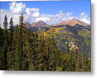 Mountains Aglow Metal Print by Marty Koch