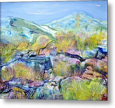Mountains And Marsh Metal Print