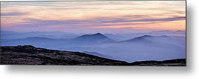 Mountains And Mist Metal Print by Marion McCristall