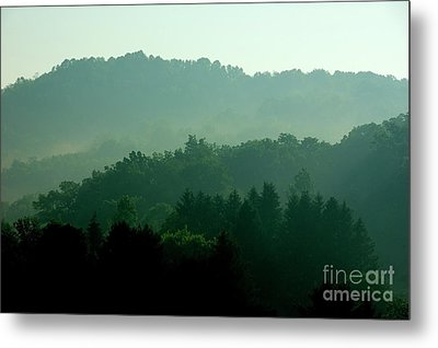 Mountains And Mist Metal Print by Thomas R Fletcher