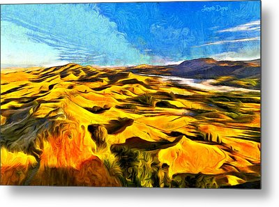 Mountains And Valley - Pa Metal Print