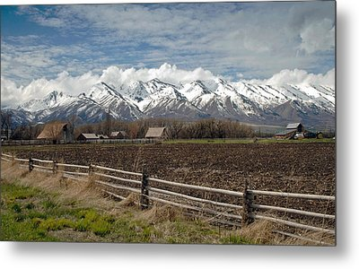 Mountains In Logan Utah Metal Print by James Steele