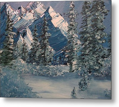 Mountains In Winter Metal Print