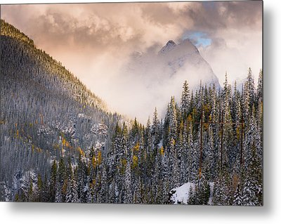 Mountains Light Metal Print