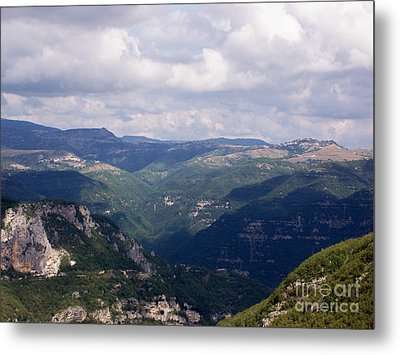 Mountains Of Central Italy Metal Print by Judy Kirouac