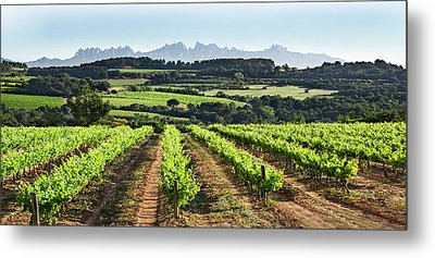 Metal Print featuring the mixed media Mountains Of Montserrat Catalunya by Gina Dsgn