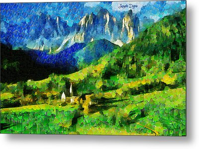 Mountains Paradise - Pa Metal Print by Leonardo Digenio