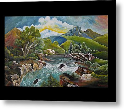 Mountain's River Metal Print by Netka Dimoska