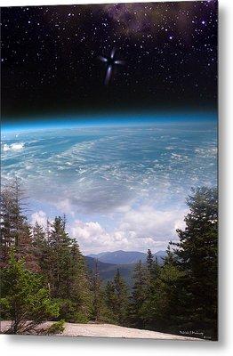 Mountaintop Space View Metal Print by Patrick J Maloney