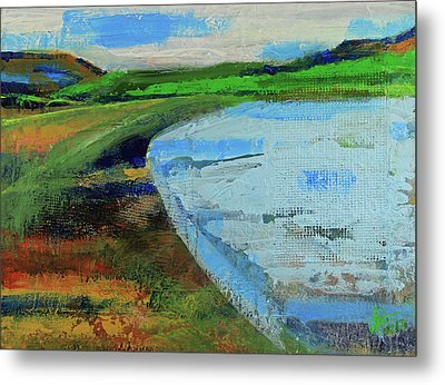 Metal Print featuring the painting Mouth Of The Creek by Walter Fahmy