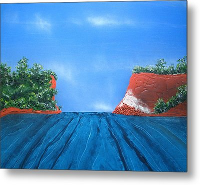 Mouth Of The Hay River Metal Print
