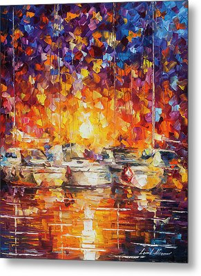 Movement Of The Sea Metal Print by Leonid Afremov
