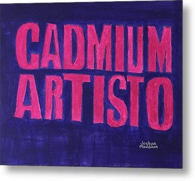 Movie Logo Cadmium Artisto Metal Print by Joshua Maddison